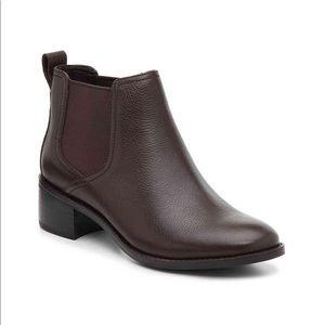 Cole Haan 'Corinne' brown heeled Chelsea boot